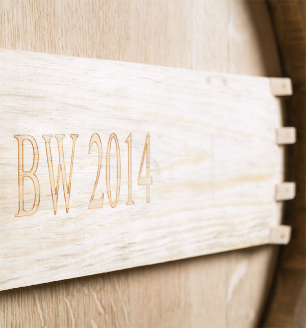 Barrel with BW 2014 stamp